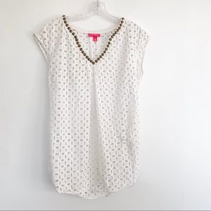 Lilly Pulitzer for Target Eyelet Studded Coverup S